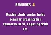 Notice on Presentation