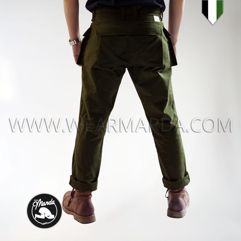 CELANA BRYTER CARGO MONKEY PANTS - ARMY