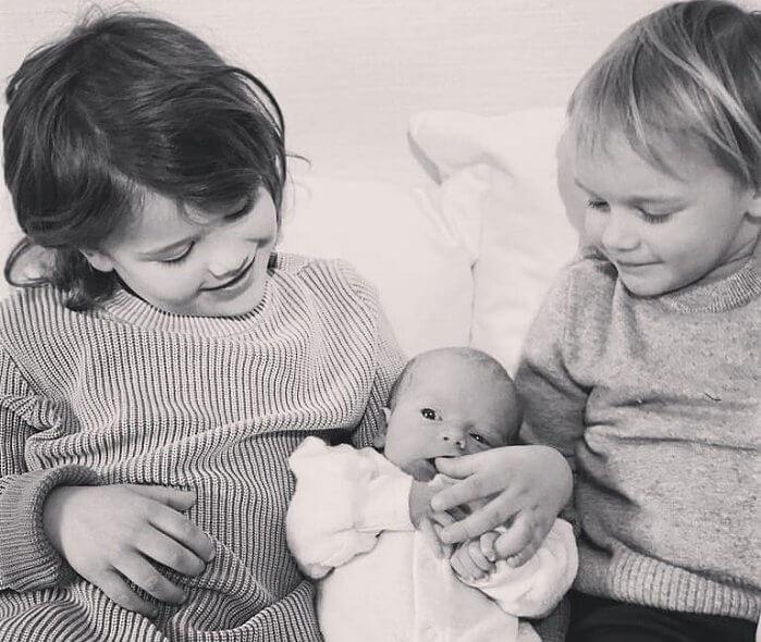 Princess Sofia and her children Prince Alexander, Prince Gabriel and newborn Prince Julian