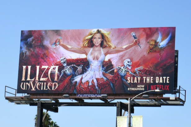 Iliza Unveiled Netflix standup billboard