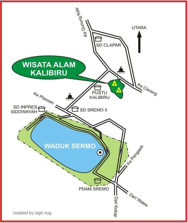 Rute Kali Biru Kulon Progo