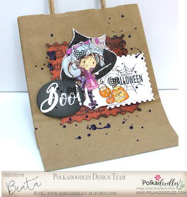 da9c60c684ad1 Dodatkowo użyłam cudownych napisów halloweenowych i papierów z dyniami.