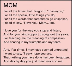 Things to thank your mom images quotes poems for greeting cards
