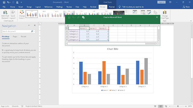 Langkah-langkah Cara Membuat Grafik di Excel dan di Word