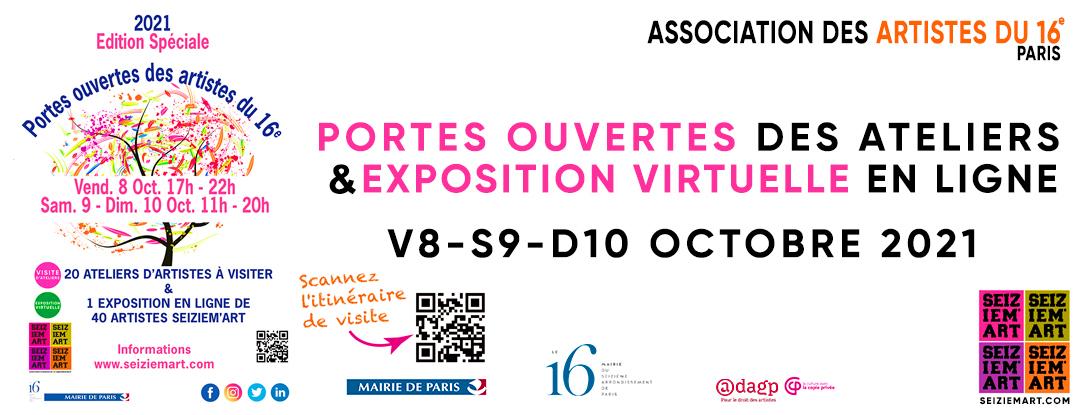 SEIZIEM'ART Association des Artistes du 16e arr. de Paris - Portes Ouvertes des Artistes 16e