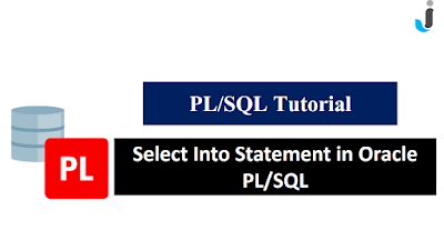 Select Into Statement in Oracle PL/SQL