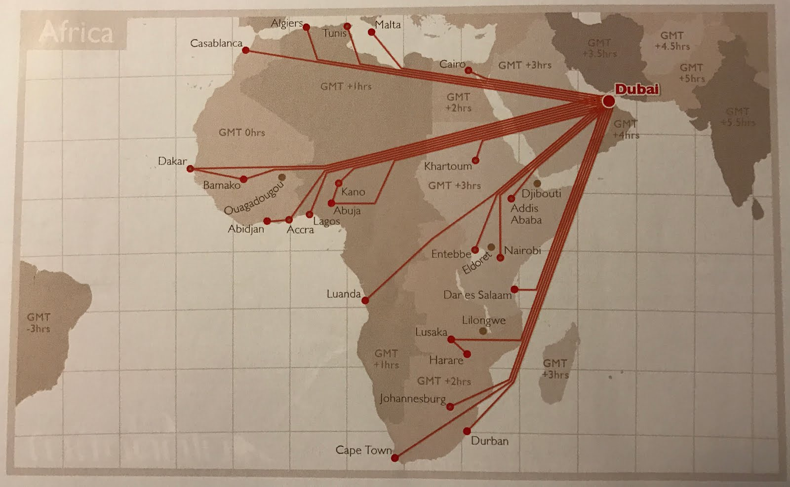 The Timetablist: Emirates Route Map, August 2016: Africa on delta airlines route map europe, united airlines route map europe, emirates flight map, emirates rebar locations maps, emirates id satwa location map, emirates road map e611 ram ram,