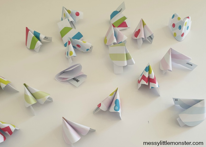 paper fortune cookies craft