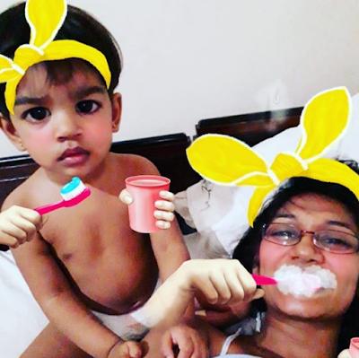 Upeksha Swarnamali With Her Baby