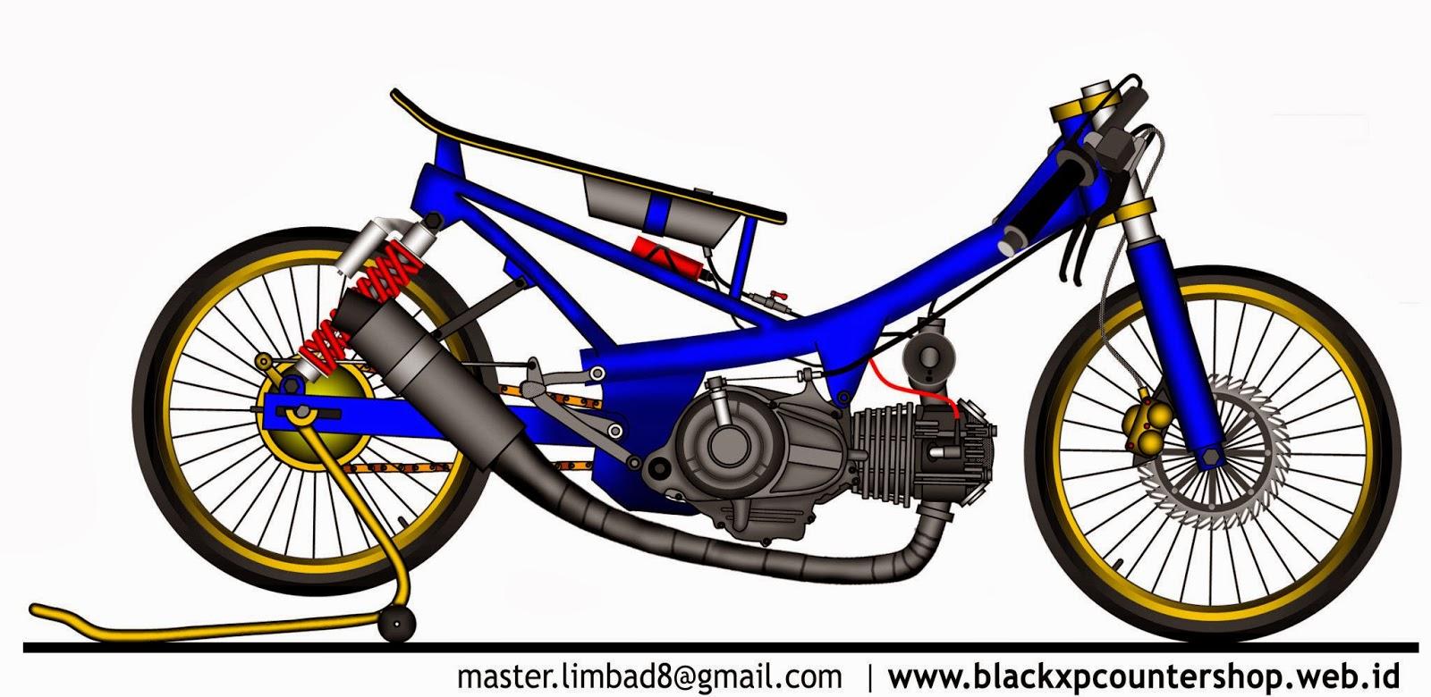 99 Gambar Motor Kartun Terkeren Gubuk Modifikasi