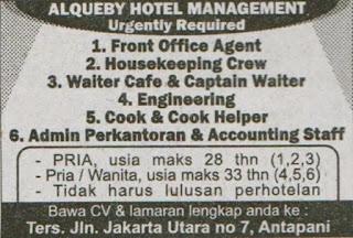 Loker Lowongan Kerja di Hotel Alqueby Bandung Terbaru 2020
