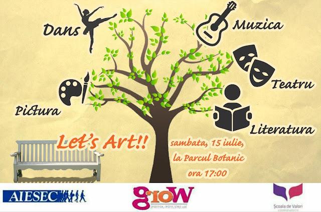 Eveniment special pentru iubitorii de arta.Let's Art va avea loc in Parcul Botanic