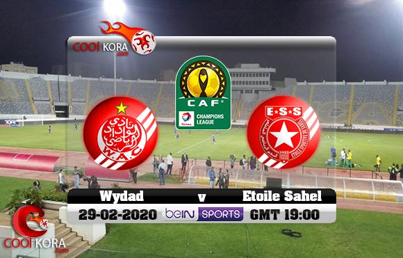 مشاهدة مباراة الوداد والنجم الساحلي اليوم 29-2-2020 دوري أبطال أفريقيا