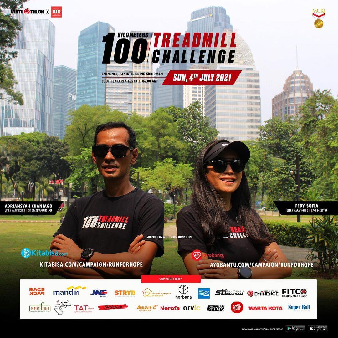 100K Treadmill Challenge - Run For Hope • 2021