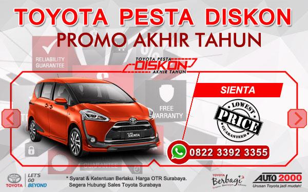 Promo Akhir Tahun Toyota Sienta Surabaya