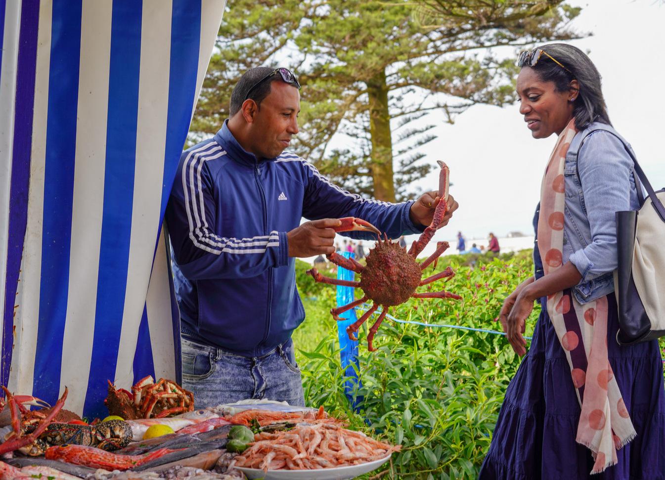 essaouira seafood, morocco