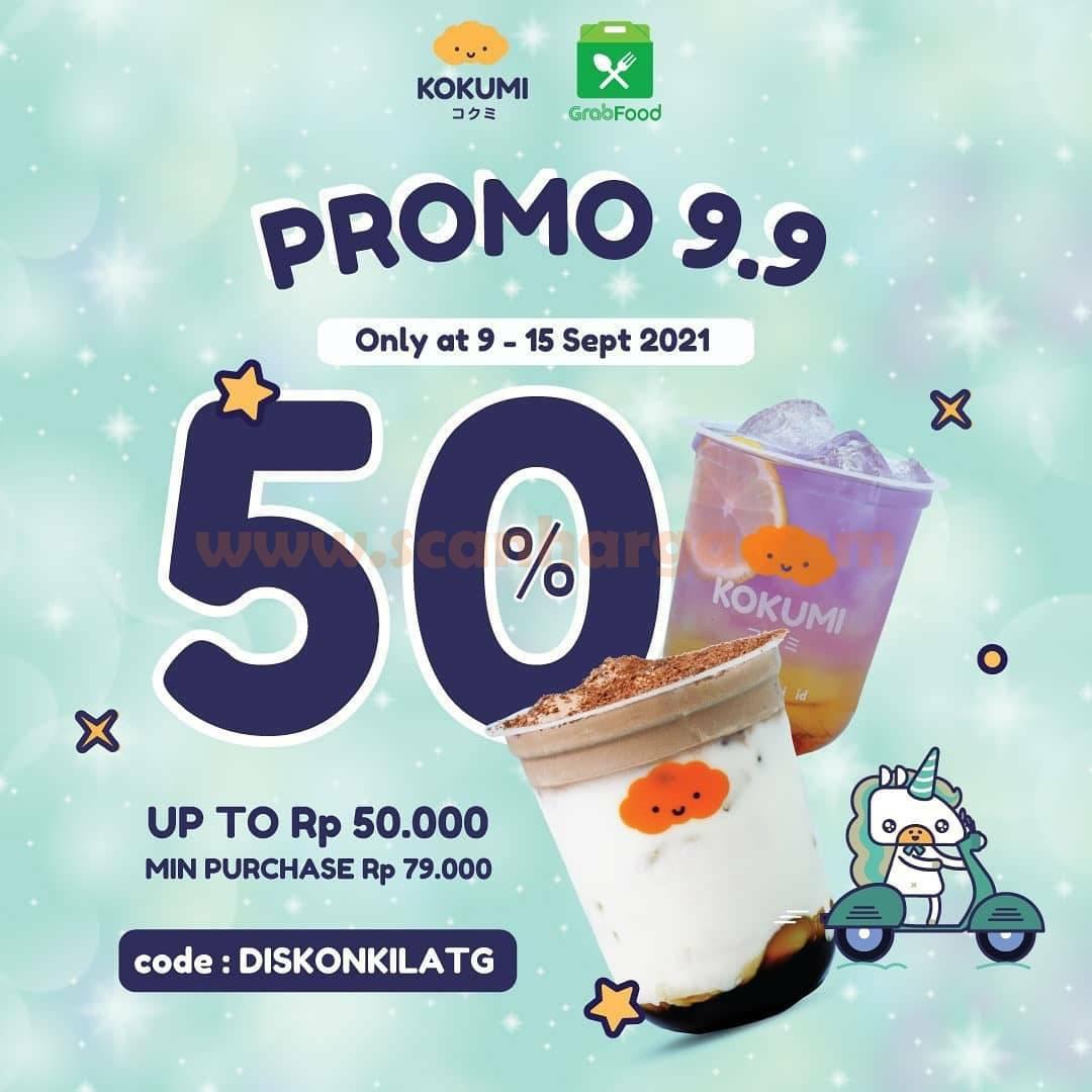 Promo KOKUMI Flash Sale GRABFOOD 9.9 Diskon hingga 50%