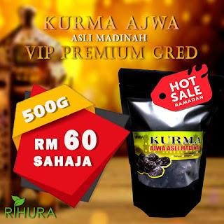 Kurma Ajwa Asli Madinah (RIHURA) | Kurma Ajwa, kurma kesukaan Nabi