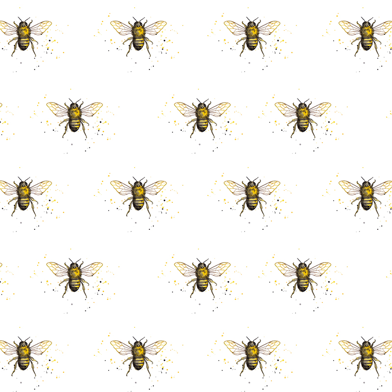 Amy Holliday Illustration Pattern Design Honey Bee Bumble Bees Enchanting Bee Pattern