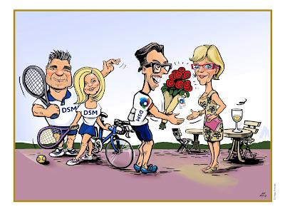 bloemen voor afscheid fietshobby team