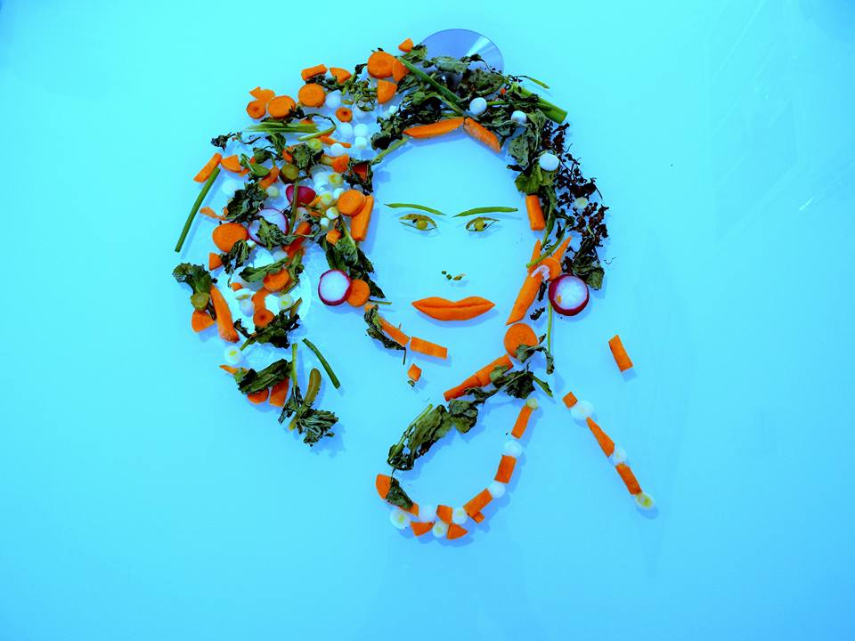 art with vegetables