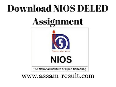 Download NIOS DELED Assignment