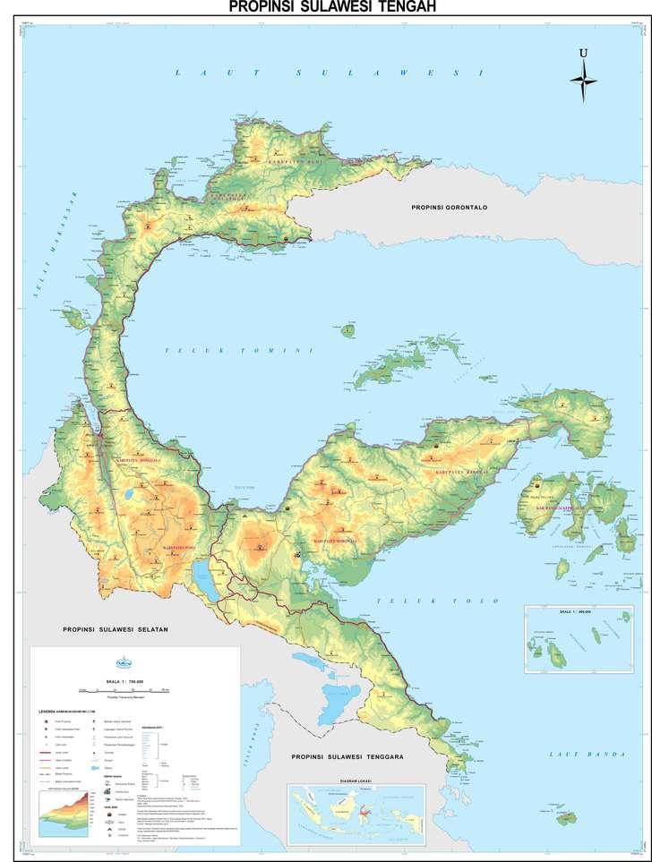 peta sulawesi Tengah / Central sulawesi map