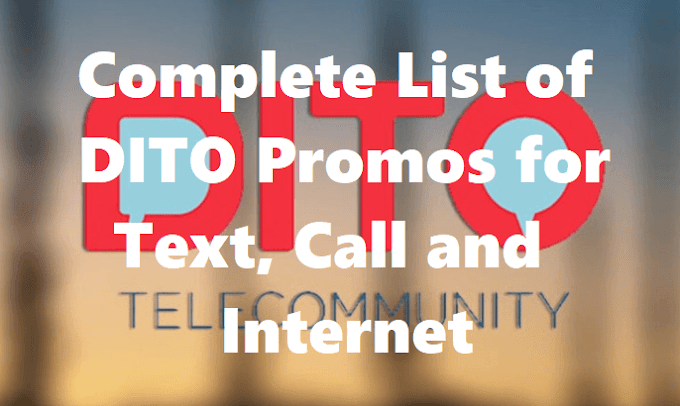 Complete List of DITO Promos for Text, Call and Internet