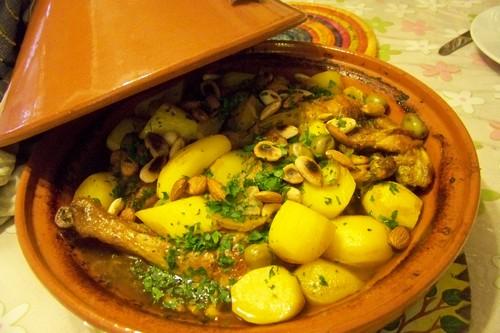 tajine de poulet au safran citrons