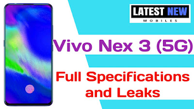 Vivo Nex 3 5G full Specifications
