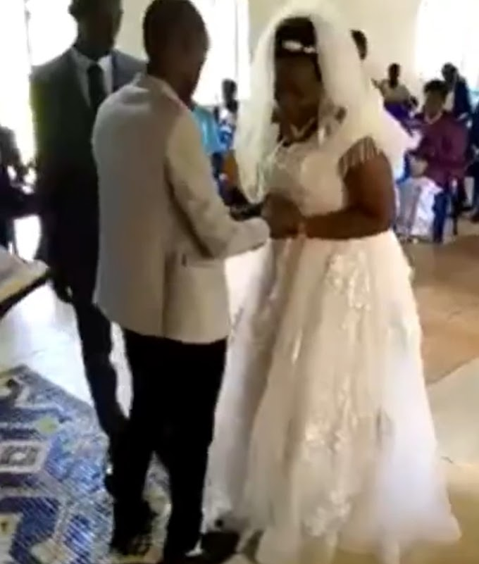 Crying bride creates a scene at her wedding (video)