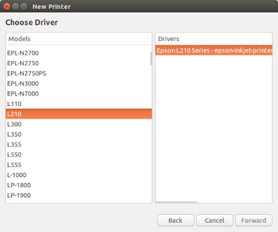 List driver baru saat add new printer