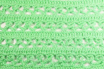 4 -Crochet Imagen Puntada combinada de baretas y cadenas a crochet y ganchillo por Majovel Crochet