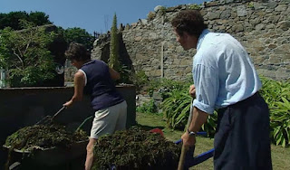Adding seaweed to the compost heap