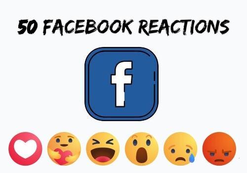 Buy 50 Facebook Emoji Emoticons Reactions Likes