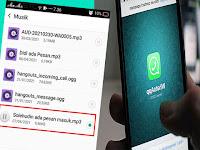 Cara Membuat Nada dering di Whatsapp Dengan Memanggil nama kamu