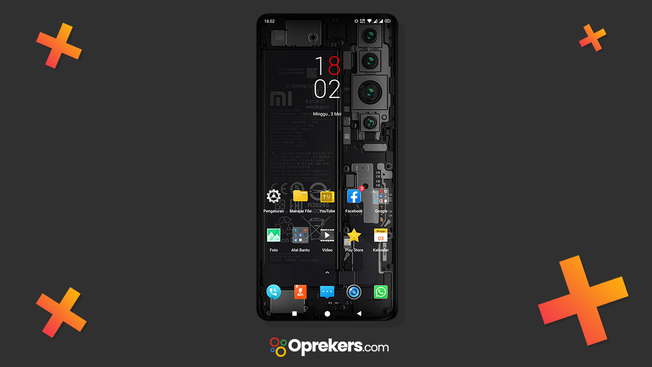Tema Mi Note 10 Black Edition Realme UI