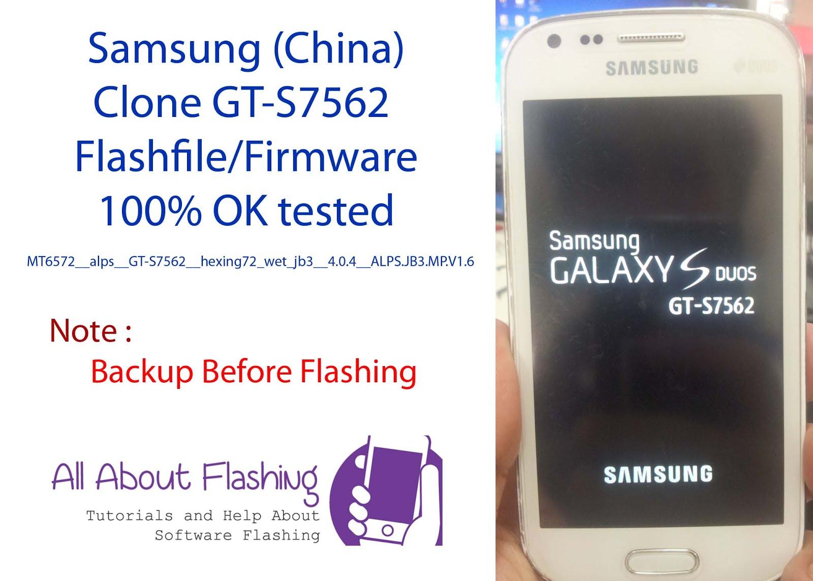 Samsung (China) Clone GT-S7562 Flashfile/Firmware 100% OK
