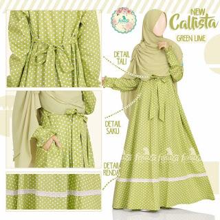 Gamis Fenuza Callista Green Lime