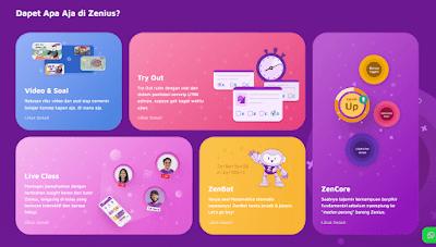 Fitur ZenCore di aplikasi Zenius
