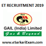 Gail India Ltd Executive Trainee Recruitment