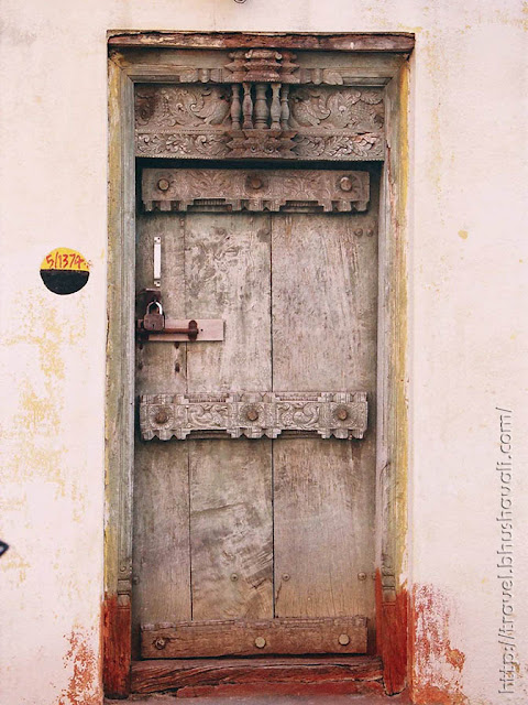 Tradtional wooden doors of South Indian villages