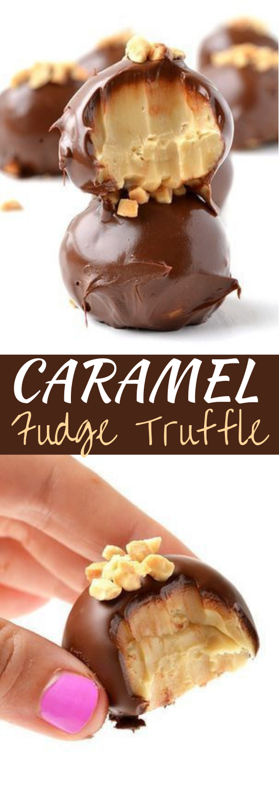 Salted Caramel Fudge Truffles #desserts #chocolate