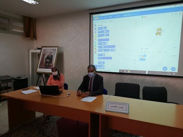 للقاء التواصلي الأول مع المجموعة الأولى من الأطر التربوية،  حول استعداد المديرية الاقليمية ببنسليمان للمشاركة في النسخة السادسة للمبادرة الافريقية للبرمجة
