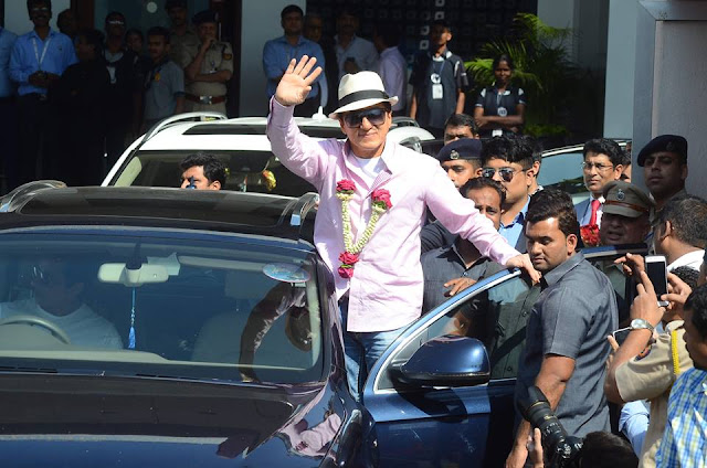 Chinese superstar Jackie Chan promoted his new movie Kung Fu Yoga