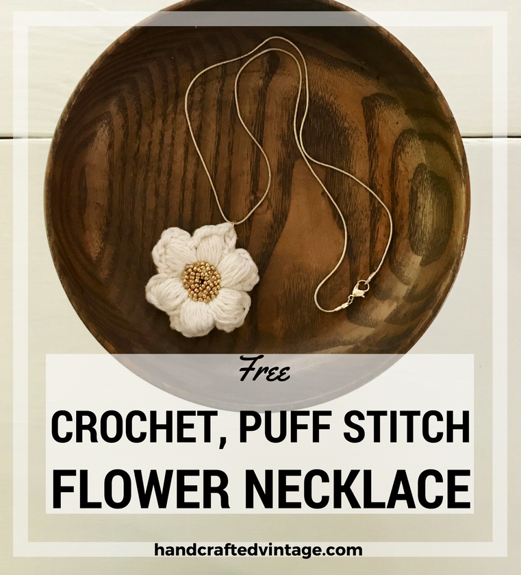 Crochet Puff Stitch Necklace