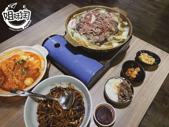 吱吱作響的韓國銅鍋烤肉,免費續碗吃不怕的小菜,獨家道地韓式炸醬麵,身處大長今的韓式料理店-韓月食堂文化店