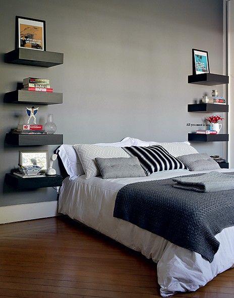 Quarto de Casal decorado em cinza: como usar e como combinar. Blog Achados de Decoração