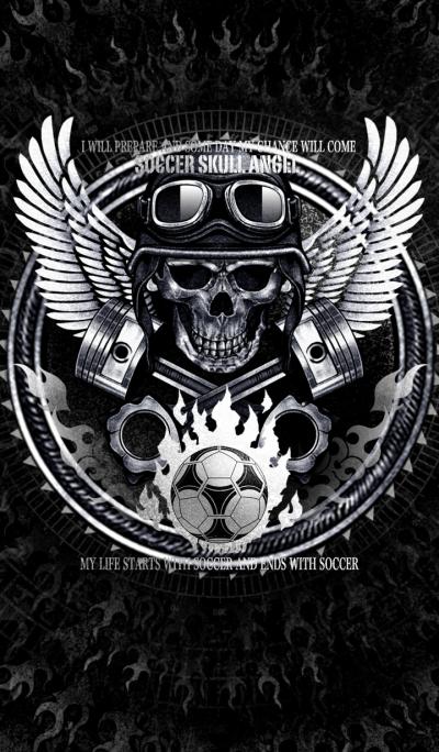 Soccer skull angel 2
