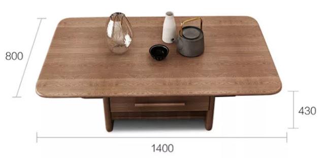 Quy cách bàn sofa gỗ mdf phủ veneer